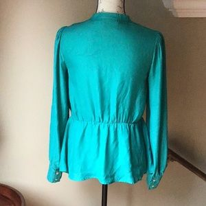 Anthropologie Tops - Anthropologie Maeve Green Sequined Blouse